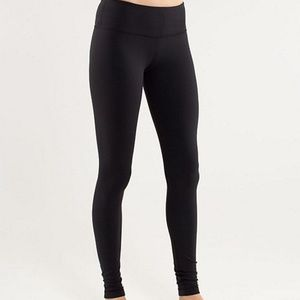 LULULEMON Black Full Length Wunder Under Leggings